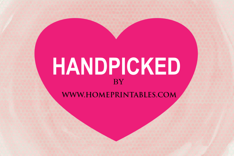 handpicked by homeprintables blog