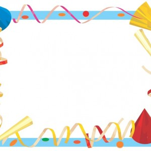 free birthday party border